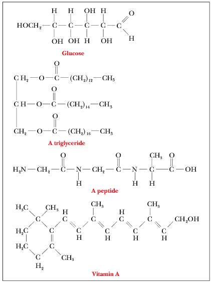 Identify the functional groups in the following compounds.