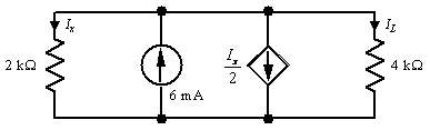 Determine Ix in the circuit shown.