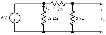 Find I1 and Vo in the circuit shown