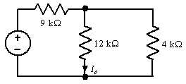 If the power absorbed by the resistor in the network