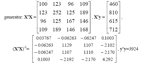 The following sample moments for x = [1, x1, x2, x3] were